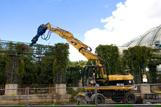Les travaux de démolitions du jardin des Halles