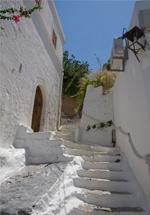 Les petites rues de Lindos pour grimper à l'Acropole