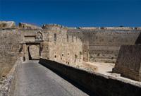 Les remparts de la ville de Rhodes