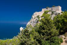 Le sud de l'île de Rhodes