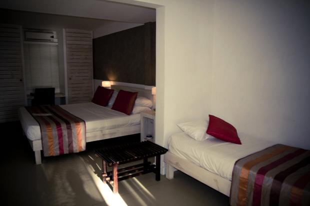 Chambre de l'hôtel le Récif