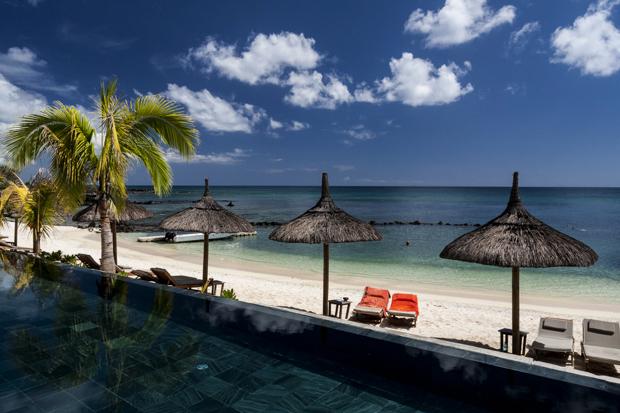 La plage de l'hôtel le Récif