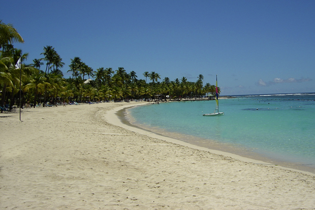 Plage du Club Med à Saint-Anne
