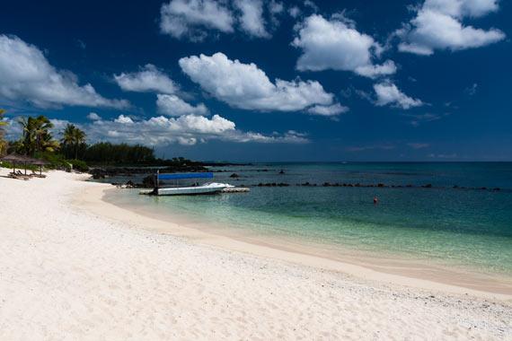 Plage de l'hôtel le Récif à l'île Maurice