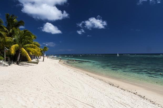 Plage de hôtel Victoria à l'île Maurice