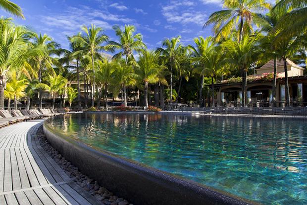 La piscine de l'hôtel Le Mauricia