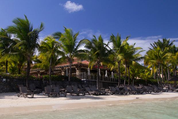 La plage de l'hôtel Le Mauricia