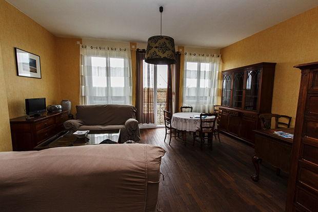 Le salon de notre appartement à Saint-Malo