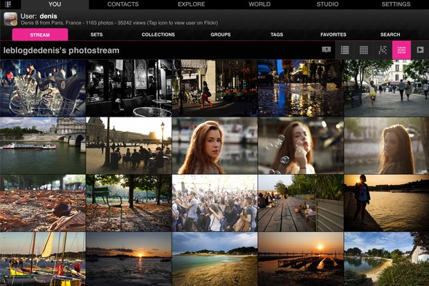 Flickr Studio pour Ipad