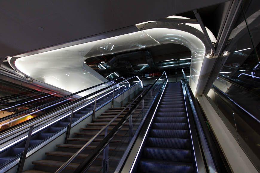 Les nouveaux escalators des Halles