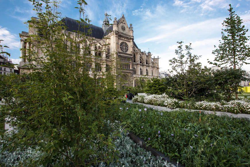 Saint-Eustache et le jardin Nelson Mandela