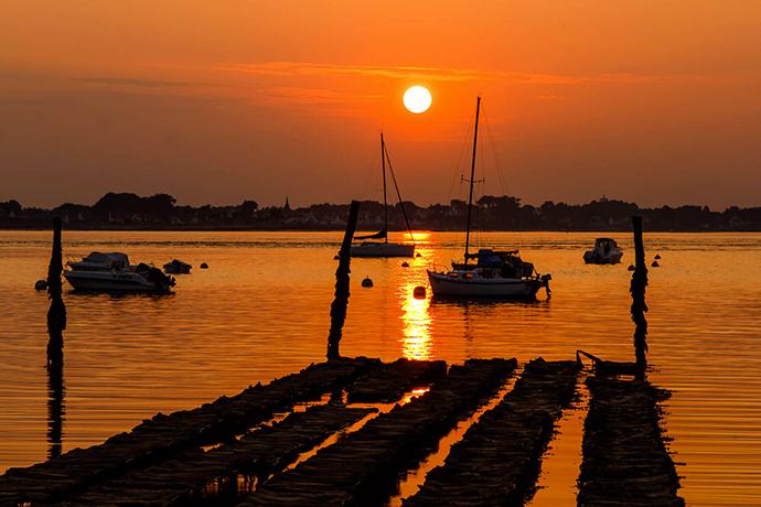 Coucher de soleil sur la presqu'île de Rhuys