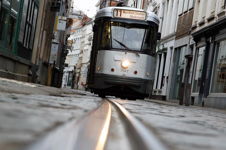 Tramway à Anvers