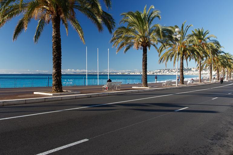 Promenade des Anglais et ses palmiers