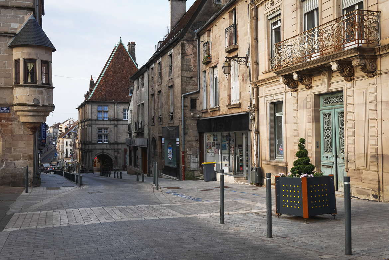 Le centre ville de Luxeuil