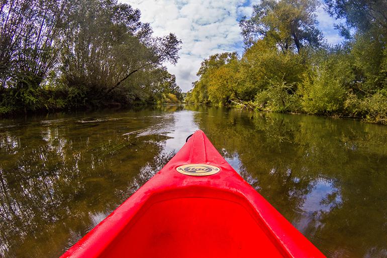 Du canoë sur la Meuse