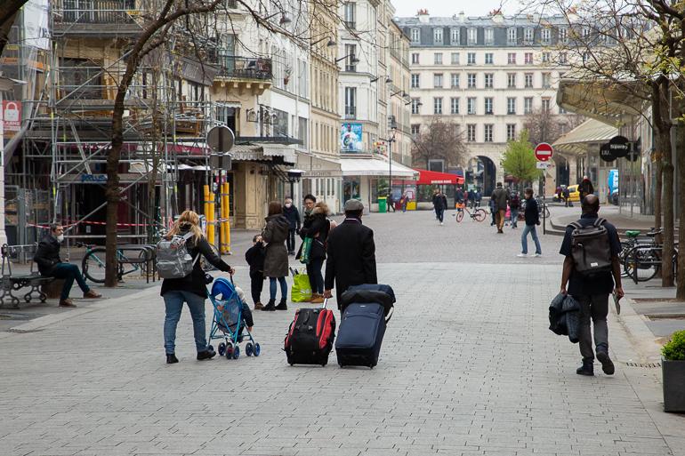 Les parisiens font leurs valises