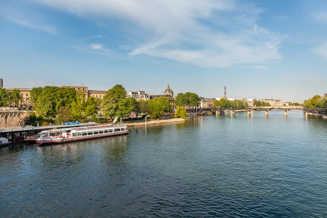 La Seine et les vedettes du Pont Neuf